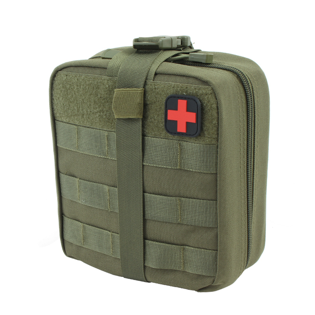 TACTIFANS First Aid Pouch Patch Bag Molle Hook and Loop Amphibious Tactical Medical kit EMT Emergency EDC Rip-Away Survival IFAK 5