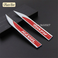 Car Fender Side Decoration Sticker Emblem Badge Decal For Great Wall Haval M1 M2 M4 H1