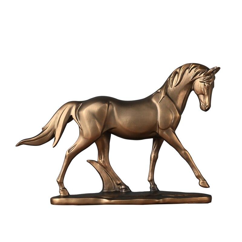 Minimaliste poney cheval Statue résine Bronco cheval Sculpture décor maison année de naissance cadeau artisanat parure accessoires ameublement