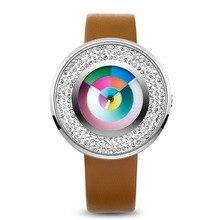 Time2U Женская одежда Diamonnd Концепции Красочные Деловых Женщин Кварцевые Часы Наручные Часы