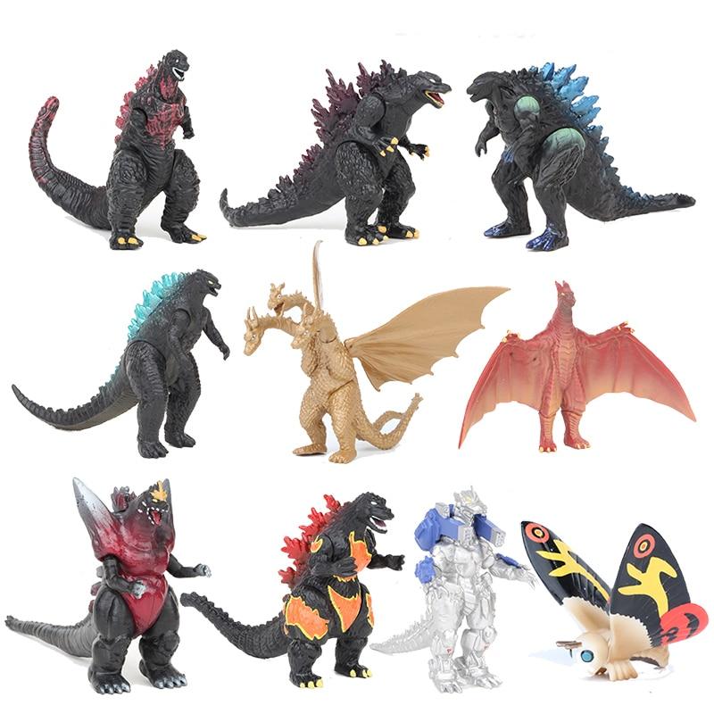10pcs/set Movie Gojira Pvc Figure Model Toys