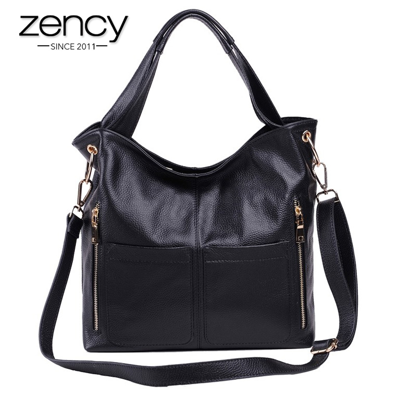 Zency New Designer Luxury High Quality Genuine Leather Women Handbag Shoulder Crossbody Tote Ladies Messenger Bag
