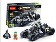 7105 Batman The Tumbler Batmobile Batwing Joker Super Heroes Decool Building Blocks Bricks Set Minifigures Compatible With Legoe