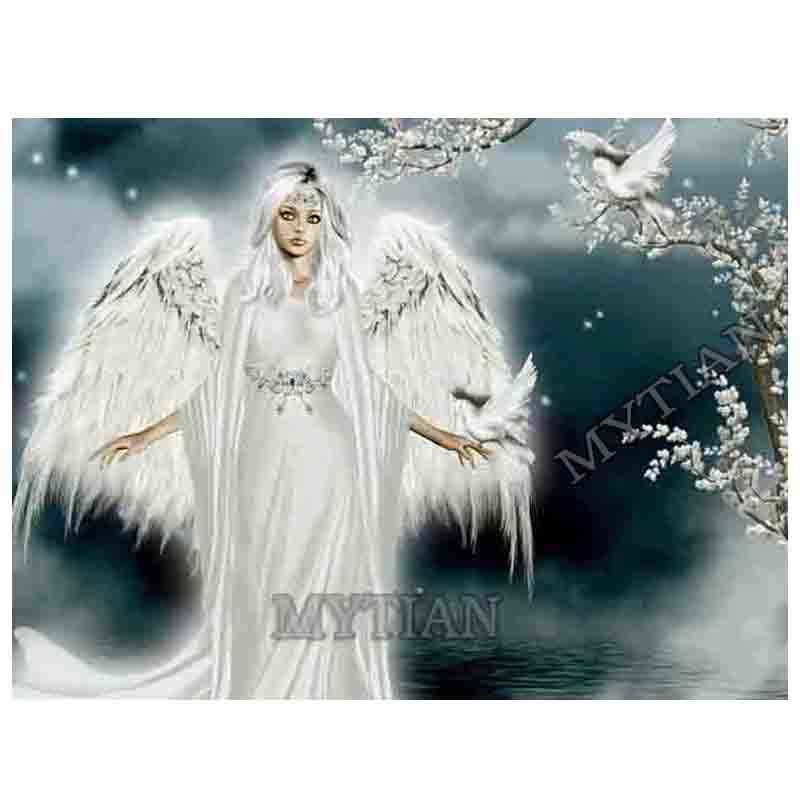 3ddiy полный дрель смолы алмаз вышивка белый Ангел и белые голуби шаблон рукоделие крестом мозаика 5D алмаз живопись art