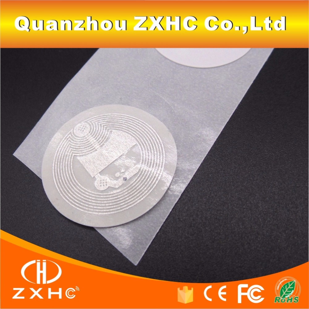 10PCS LOT 25mm White NFC Stickers Protocol ISO14443A13 56MHz NTAG 213 Universal Label RFID Tags (10PCS/LOT) 25mm White NFC Stickers Protocol ISO14443A13.56MHz NTAG 213 Universal Label RFID Tags and All NFC Phones