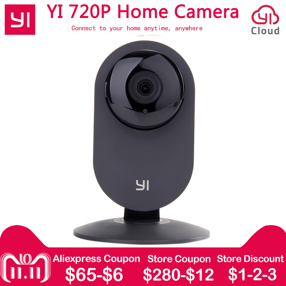 [International version] Xiaomi YI Home IP Camera 110 Wide Angle 720P 2 way Audio Activity Alert Smart Webcam Mini Baby Monitor kerui 1080p cloud storage wifi ip camera surveillance camera 2 way audio activity alert smart webcam
