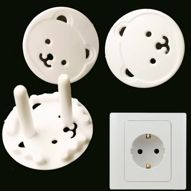 European standard 5pcs cute bear plug socket safety baby children european standard 5pcs cute bear plug socket safety baby children protection plug safety cover electrical outlet sciox Choice Image