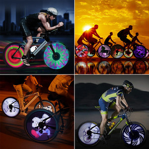 64/LED RGB Bike Bicycle Light Colorful Wheel Spoke Light Smart Programming DIY APP Controls Cycling Lamp luz bicicleta(China)