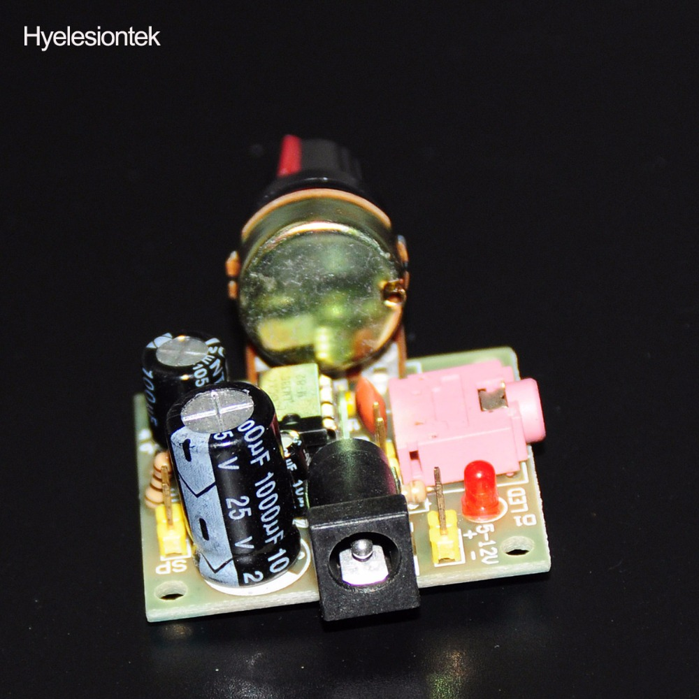 Lm386 Super Mini Audio Amplifier Electronic Kit Circuit Board 2 Watts Stereo Using Three Amplificador Module Power 35mm 3 12v Dc Mono In Integrated Circuits From