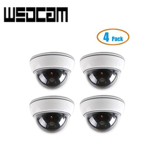 4 Pack Dome Surveillance Security Dummy Imitation Camera Fake Security Camera Simulated Infrared IR LED