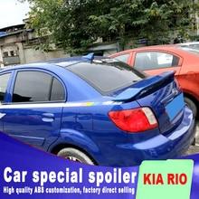 2008 2009 2010 2011 для KIA RIO красный стоп-светильник задний спойлер багажника по грунтовке или сделай сам цветной обтекаемый спойлер RIO
