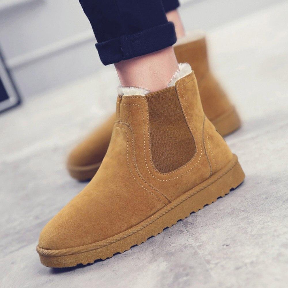 Chaussures Pour Botines Occasionnels Femelle Youyedian 2018 gris Glissement jaune Plat Cheville Neige Noir Femmes D'hiver Bottes Sur Rétro Mujer 6PqORx6