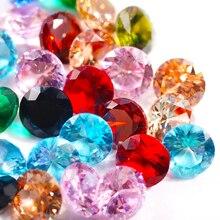 3 мм 4 мм 5 мм 6 мм AAA круглый блестящий огранка красный фиолетовый зеленый розовый синий кубический цирконий камень свободные