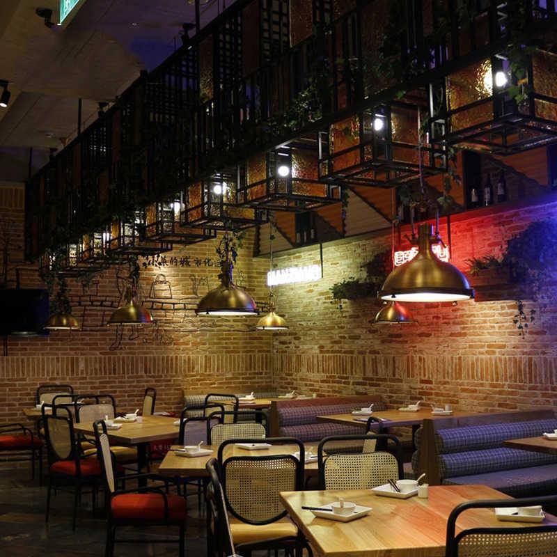 Регулируемая цепь подвесной светильник Ретро Лофт лампа столовая офис интернет бар клуб паб кафе огни Винтаж Люстра droplight