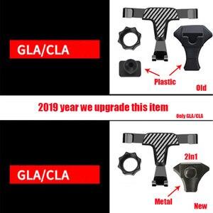Image 5 - Универсальный металлический держатель для мобильного телефона, вентиляционное отверстие, 360 градусов, автоматическая подставка для Mercedes Benz GLA CLA GLC, c класс