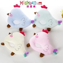 Newborn Baby Pillow Chicken Cartoon Head Shape Pillow Soft Positioner For Infant Flat Head Pillow Baby Support Cushion Softy