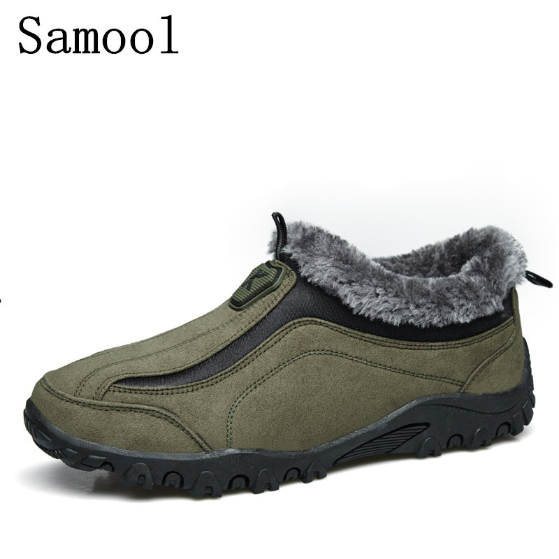 2017 Autumn Winter New Men Casual Shoes Comfort Snow Boots Men's Slip-On Shoes Man Winter Keep Warm With Fur Men Shoes WX5 2016 new autumn winter man casual shoes sport male leisure chaussure laced up basket shoes for adults black