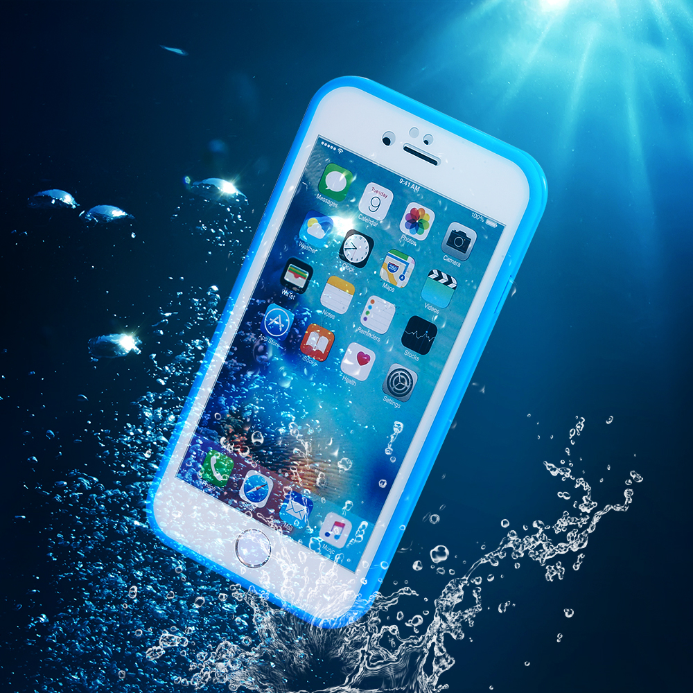 Waterproof Shockproof Dustproof Silicone Phone Cases for iPhone XS MAX XR X 10 6s 7 8 Plus 8Plus 7Plus 360 Full Body Cover coque(China)
