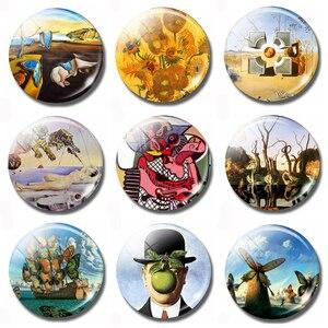 Dali Salvador, Rene Magritte, Pablo Picasso Surrealist Painter Art Souvenir Fridge Magnets Refrigerator Glass Magnetic Stickers(China)
