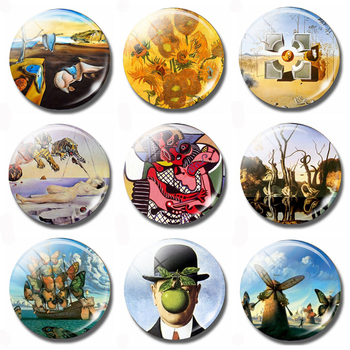 Dali Salvador, Rene Magritte, Pablo Picasso Surrealist Painter Art Souvenir Fridge Magnets Refrigerator Glass Magnetic Stickers rene magritte newly discovered works