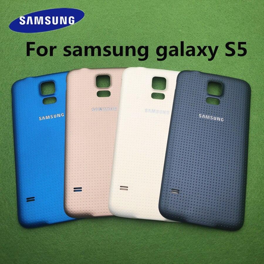 Задняя крышка аккумуляторного отсека для SAMSUNG Galaxy S5 G900 G900F G900M G900A G900P i9600, задняя крышка корпуса из стекла, чехол для замены аккумуляторного от...
