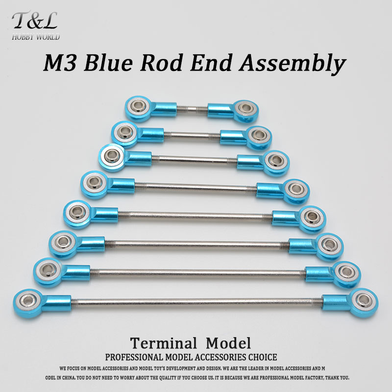 Aluminum m blue link rod end ball joint metal tie