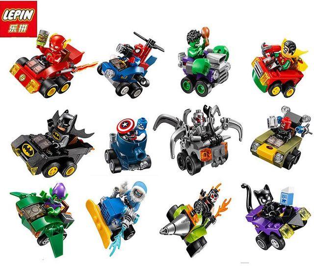 12pcs Super Heroes Mighty Micros Avengers Batman Marvel Building ...
