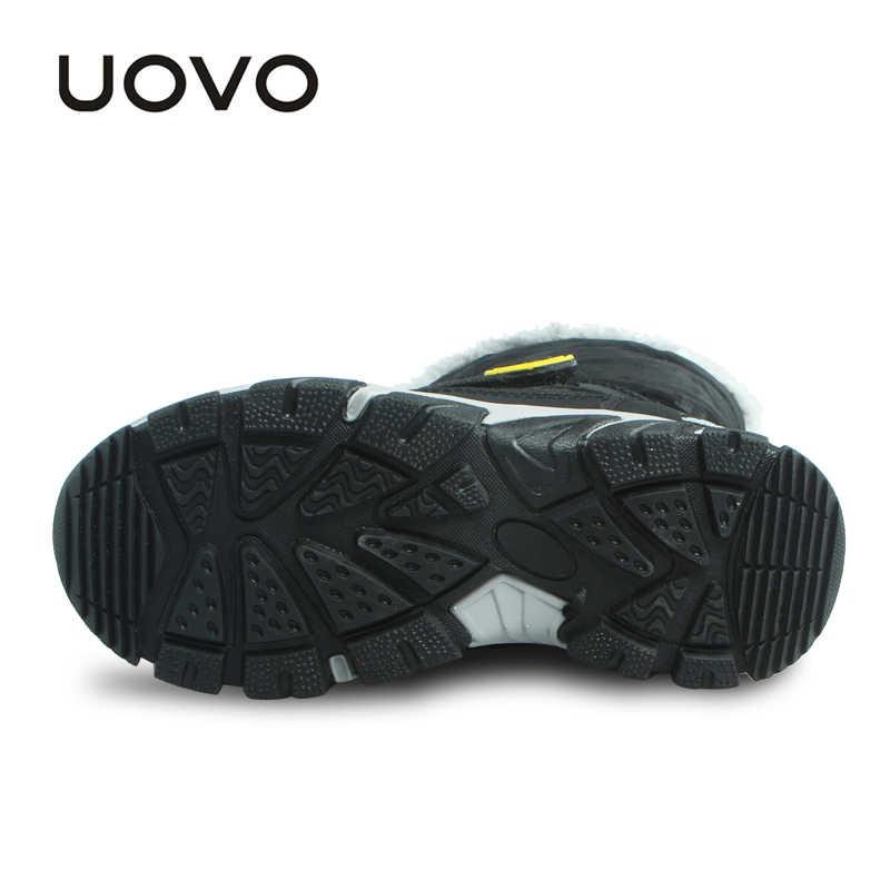 UOVO 2019 ใหม่เด็กอบอุ่นฤดูหนาวรองเท้าบู๊ทกลางลูกวัว Snow รองเท้าสำหรับชายฤดูหนาวรองเท้าเด็กรองเท้าขนาด 28-37 #