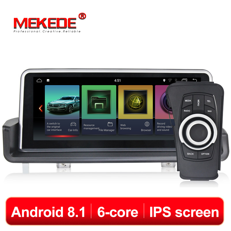HD ID7 6 núcleo Android 8.1 de Navegação GPS Do Carro dvd player de rádio para bmw E90, E91, E92, e93, 3 series, Canbus, bluetooth, comandos de volante