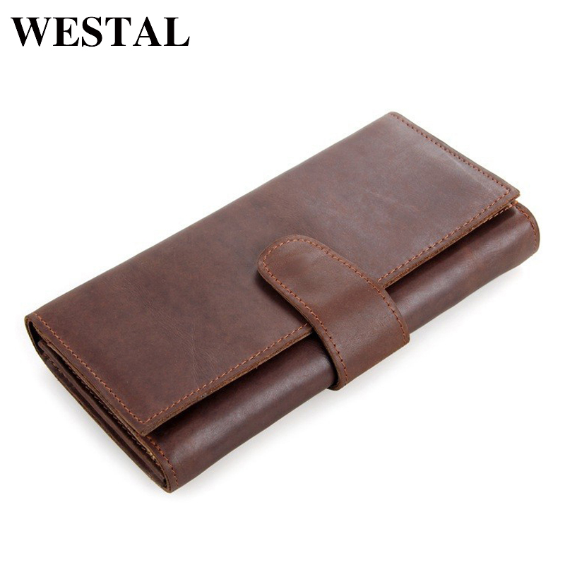WESTAL Men Wallets Genuine Leather Man Wallet Male Clutch Leather Wallet Coin Purse Credit Card Wallets Fashion Brand 8052 wolf head men wallets genuine leather wallet fashion design brand wallet leather man card holder purse
