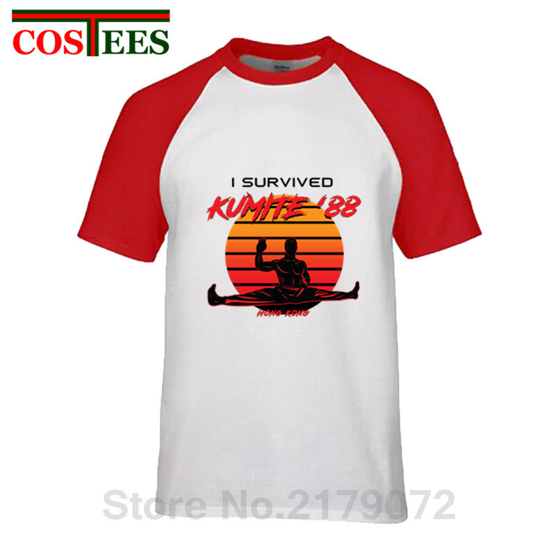 Kumite '88 retro <font><b>T</b></font> <font><b>shirt</b></font> <font><b>HongKong</b></font> Taekwondo bloobsport 80's clothing Vintage China Kungfu Karate Martial Arts I survived <font><b>T</b></font>-<font><b>shirt</b></font> image