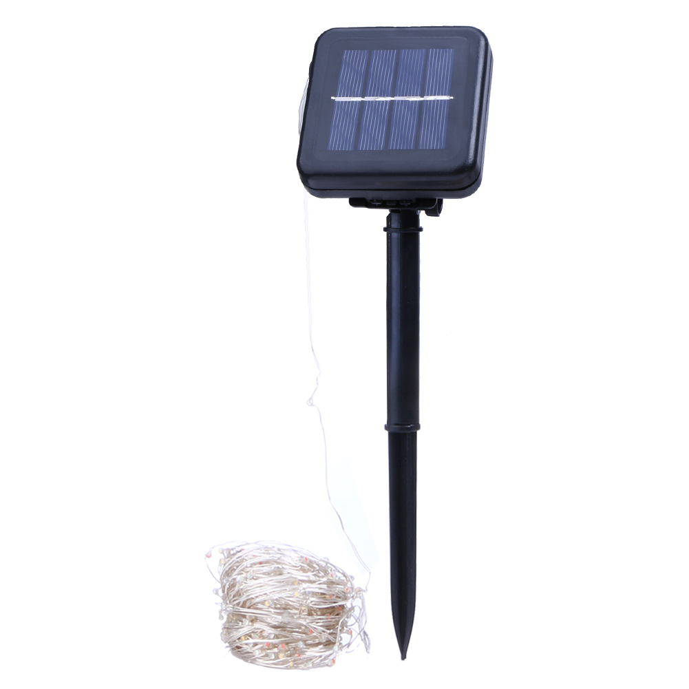 Outdoor String Lights Guide Wire: Solar Powered String Lights 20M 200 LEDs Copper Wire