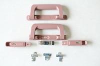Pc suitcase handlebar trolley plastic password lock handle automatic rebound handle handle