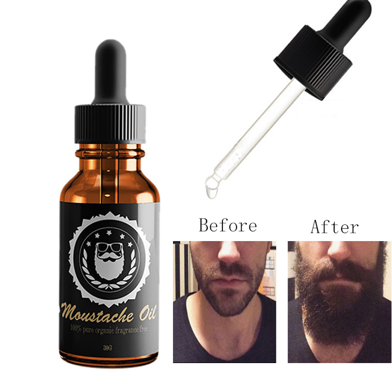 Natural Plant Organic Beard Oil Styling Nourishing Smooth Beard Growth Hair Lost Products
