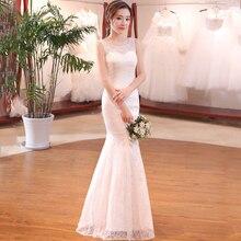 Сексуальное кружевное свадебное платье Русалка Vestidos De Noiva Fotos Reais, Белые Длинные свадебные платья без рукавов, вечерние платья на заказ
