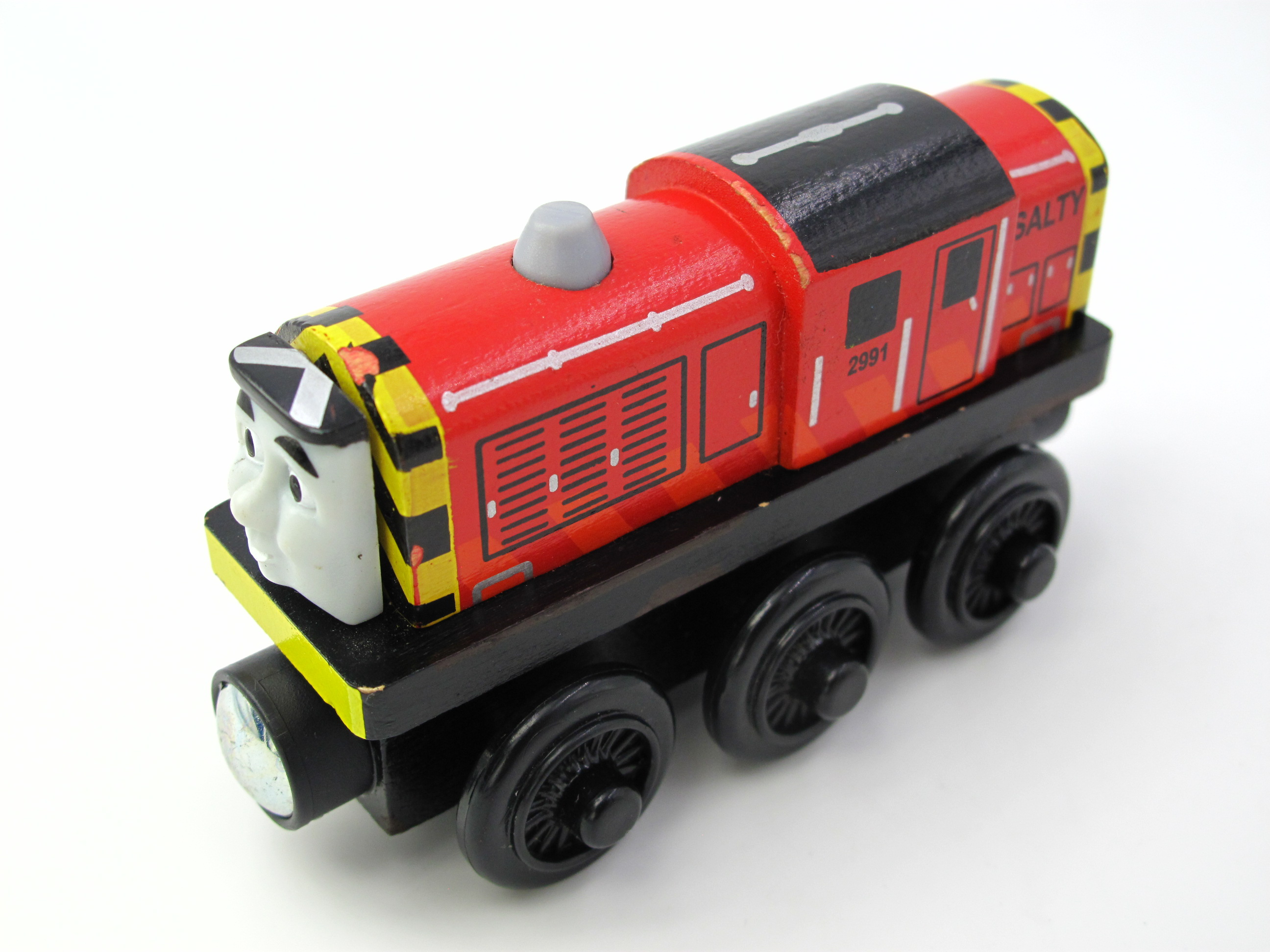 Wooden Thomas Train T117W SALTY Thomas And Friends Trackmaster Magnetic Tomas Truck Car Locomotive Engine Railway Toys for Boys