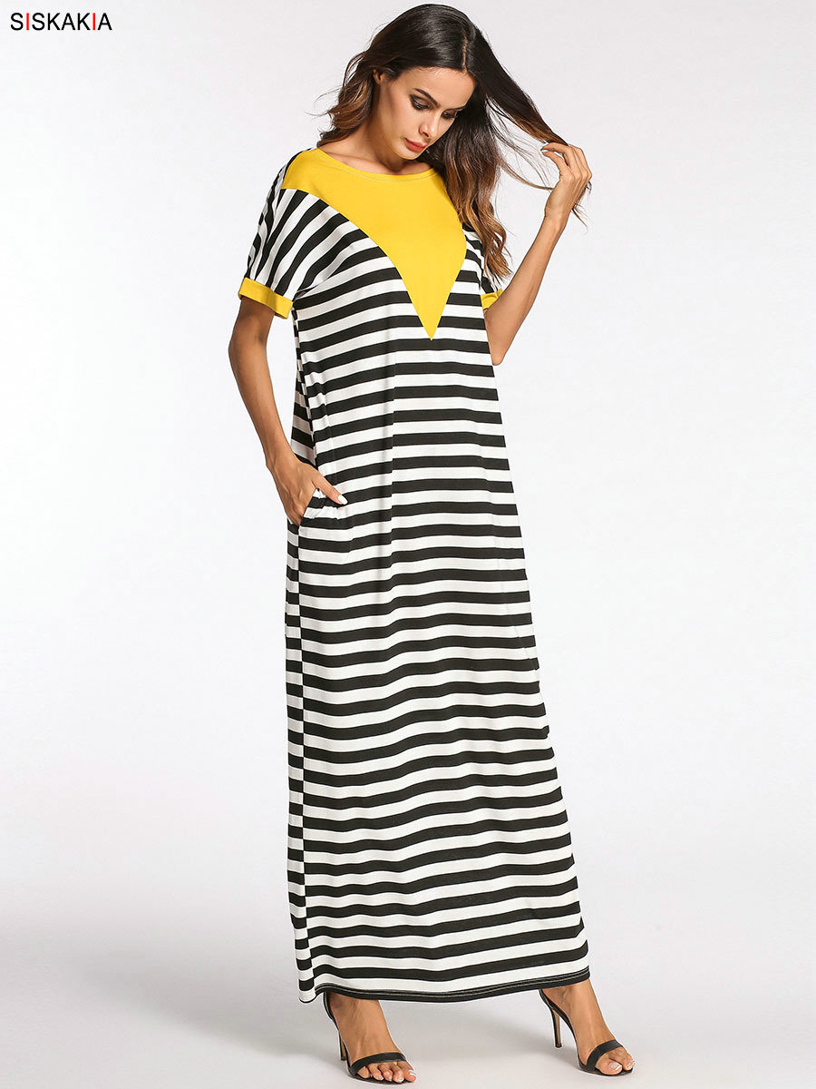 232480dcdb2 Großhandel Siskakia Schwarz Weiß Streifen Mode Kontrast Farbe ...