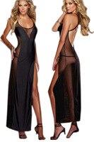 Плюс Размеры сексуальное женское белье XXL 3XL 4XL пикантные Ночные рубашки для девочек Для женщин Ночное Летний Стиль Длинные спать ночью плат...
