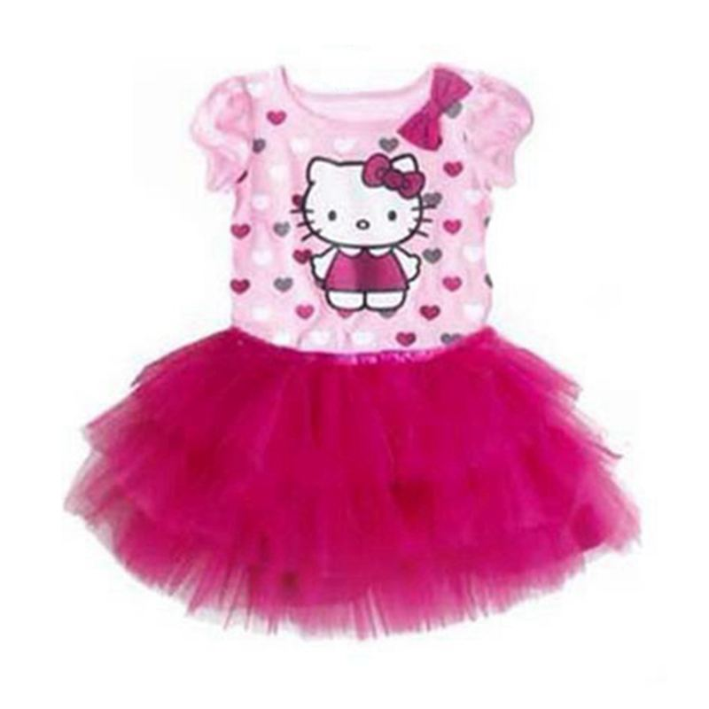 Hello kitty and princess sofia pink lace girls dresses for - Princesse kitty ...