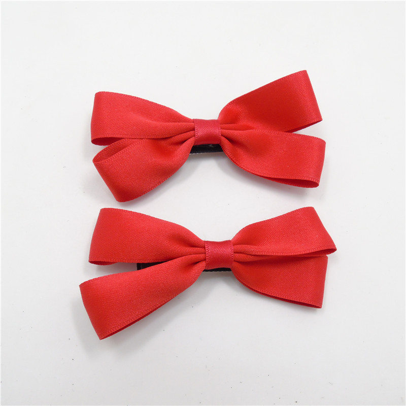 20pc lot Red Bow Clip Holiday Ribbon Hairpin Satin Ribbon Bow Pigtail Hair  Barrette Valentines Day Hair Bow Tie Grip Cute Pinch-in Hair Accessories  from ... aed48dca061