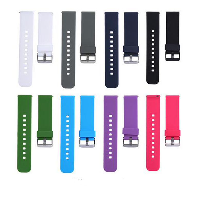 Soft Silicone Watch Band Replacement Strap for Samsung R380 / R381 / R382 for Pebble Time for Cookoo2 Watch Watchband watch strap replacement soft silicone replacement wrist watch band for garmin forerunner 230 235 220 high quality watchband 2018