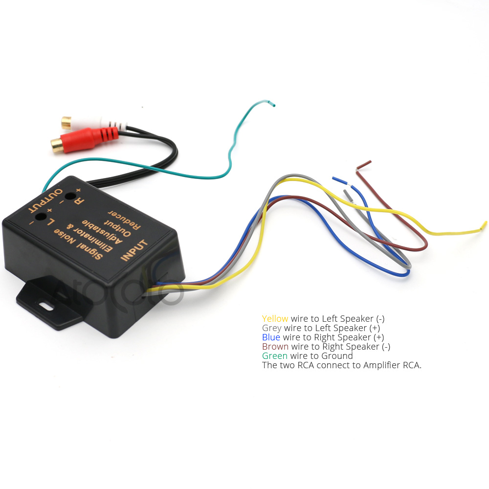 2 Channel HI / LOW Level Converter High Level Speaker Output to ...
