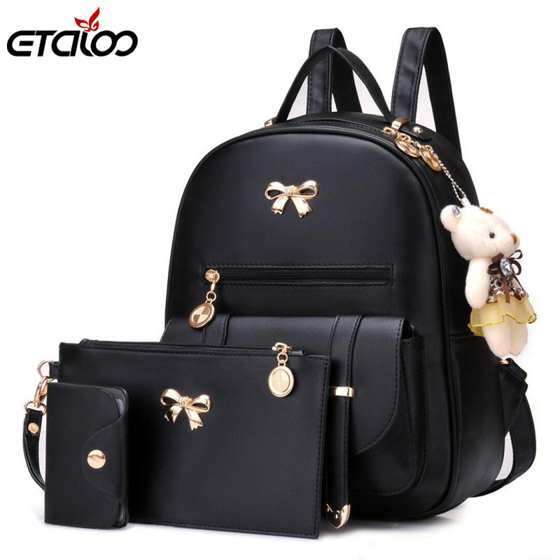 962492a7ae4d Detail Feedback Questions about 3pcs Set PU Leather Women Backpacks Cute School  Backpacks For Teenage Girls Female Shoulder Bag sets bags backpack on ...