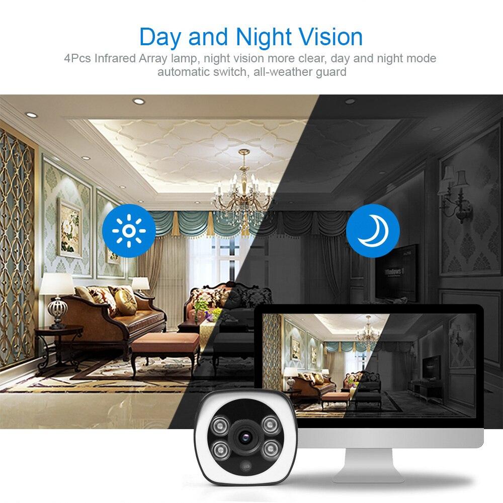 HTB1hdAya.CF3KVjSZJnq6znHFXas HD 5MP Wifi IP Camera ONVIF 1080P Wireless Wired CCTV Bullet Camera Outdoor Two Way Audio TF Card Slot Max 64G IR 20m P2P iCsee