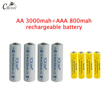 20 pcs AA 3000mAh Ni-MH Rechargeable Batteries + 20 pcs AAA 800mAh Rechargeable Batteries