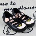 Alice In Wonderland MINI MELISSA Zapatos 2016 Melissa Sandalias de Las Muchachas Del Gato de Cheshire Cat Sonrisa Sandalias Sandalias de Playa de Alta Calidad