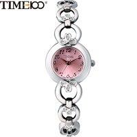 TIME100 Mode Élégance Femmes Quartz Montres Diamant Analogique Bijoux Rose Squelette Alliage Bracelet Montre Cadeau Relogio Feminino