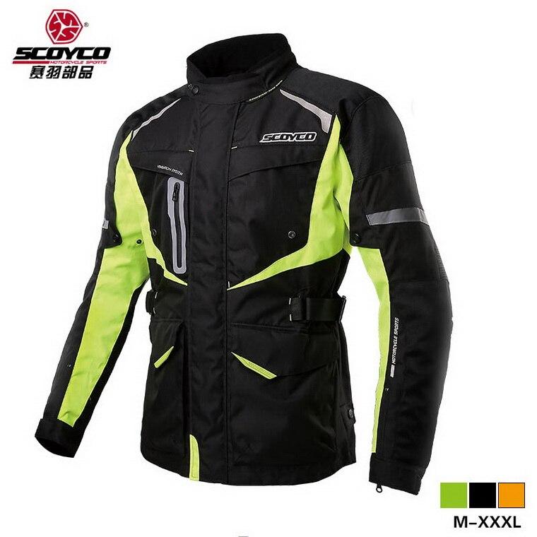 Scoyco JK42 Men's Motorcycle Motocross waterproof Jacket Protective Gear Off Road Clothing Protector Sportswear keep warm