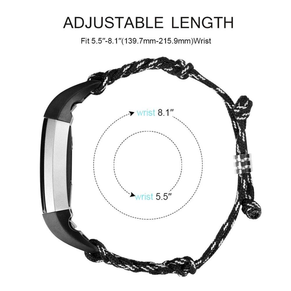 Nylon Rope Survival strap For Fitbit Alta band Alta HR Bracelet