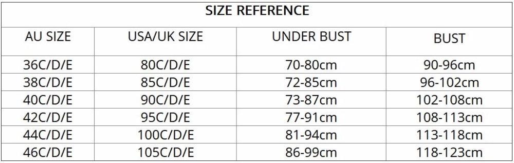 Murushe Ladies Big Size C D E 34 Cup Lace Push Up Bra Black Adjustable Bralette Deep V Women's Bras Underwear Lace Large Cup (3)